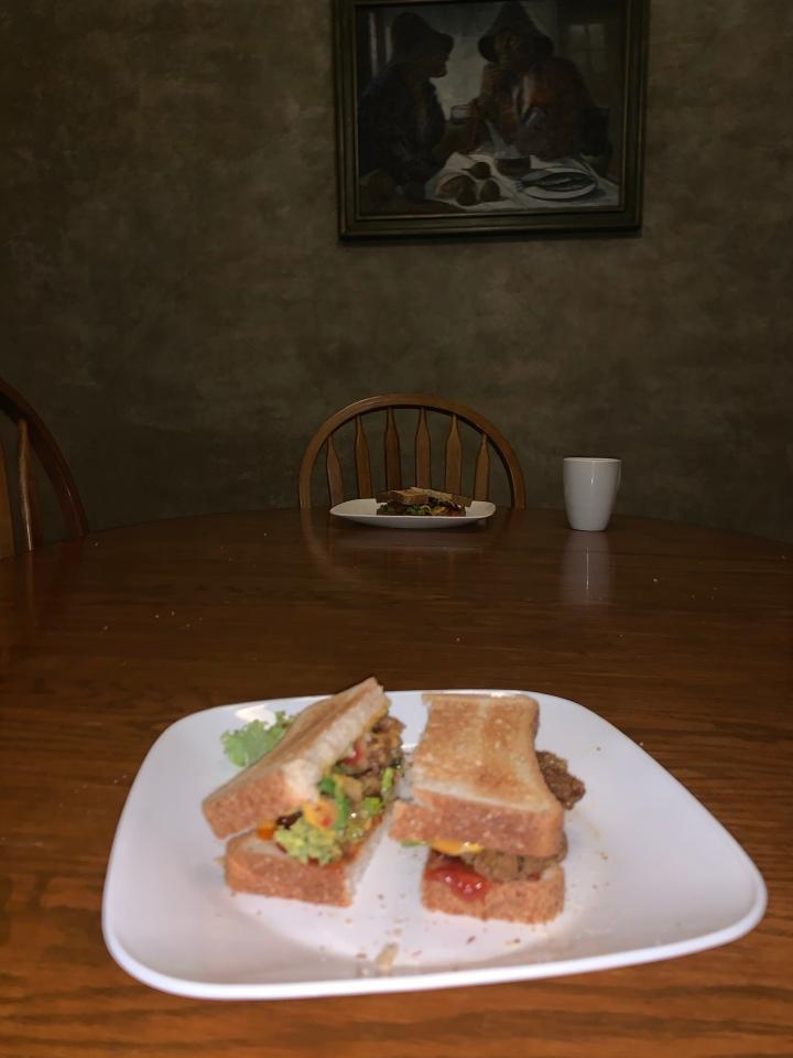 Another fried mushroom sandwich